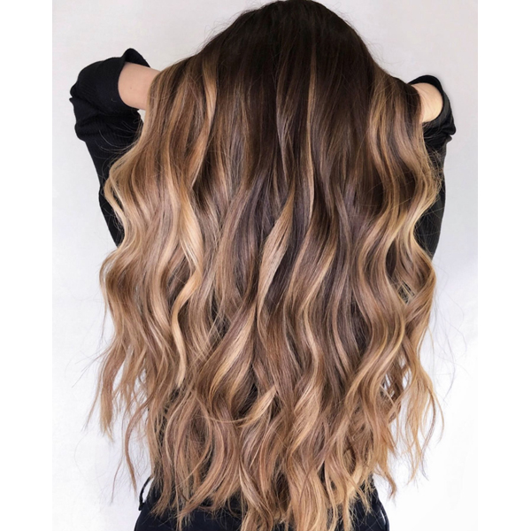 Madison Fetterhoff @hairstylist.madison Warm Brunette Dimension Haircolor Formula How-To Dimensional Highlights Warm Toned Lowlight Balayage