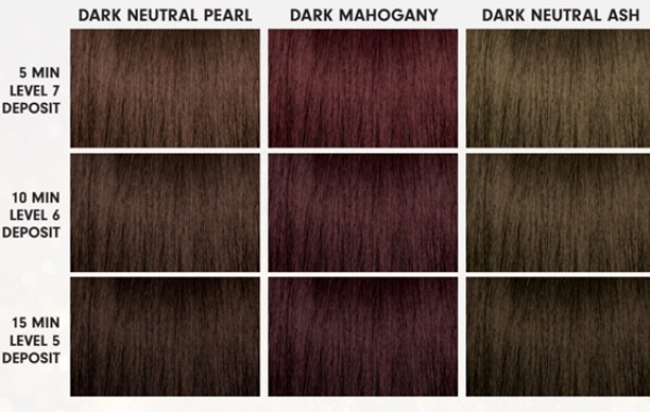 PRAVANA Express Tones Toner Hair Color After Dark Collection Hair Swatch Chart