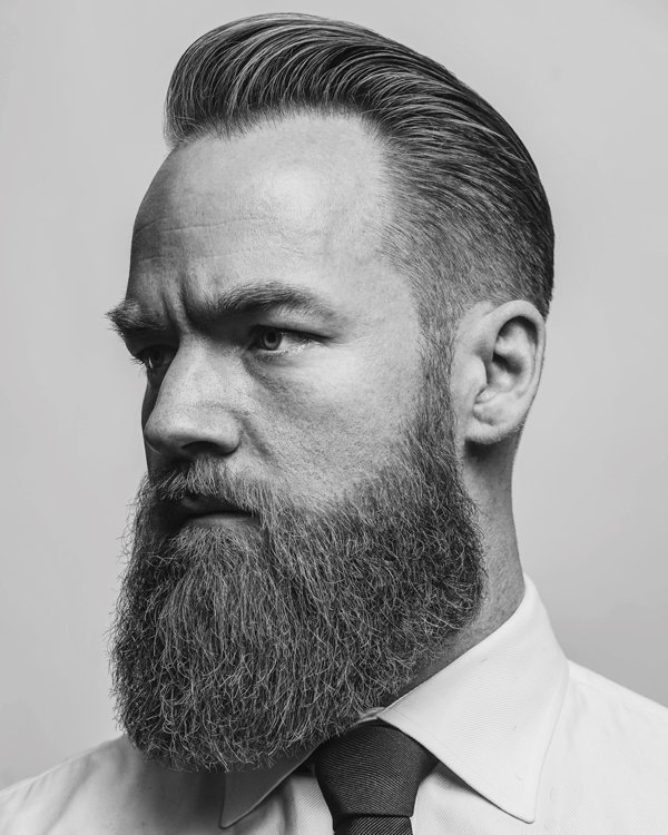 men's haircut, barber, beard
