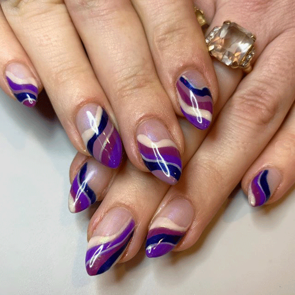 geode nail art by @superflynails