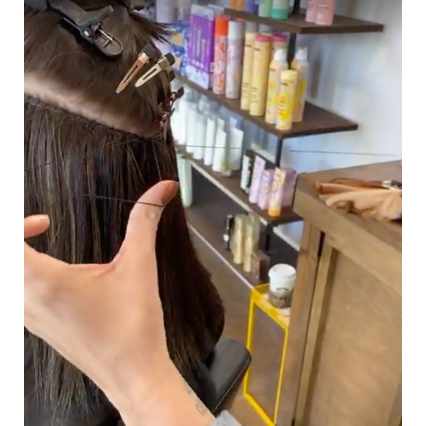 How To Apply Hybrid Weft Hair Extensions Donna Bella For Chemical Free Highlights Balayage