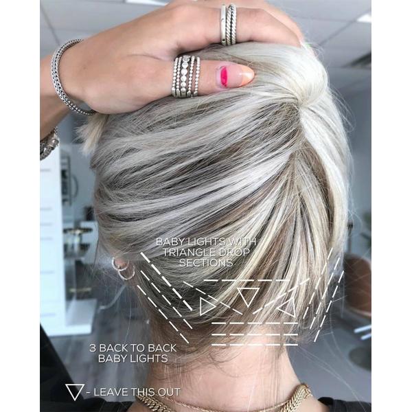 Tips For Painting The Hairline At The Nape Blonde Lightener Lightening Blonde Balayage Foils Foilayage