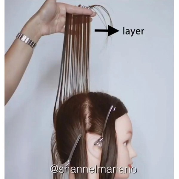 how to cut long layers on every client cutting tips