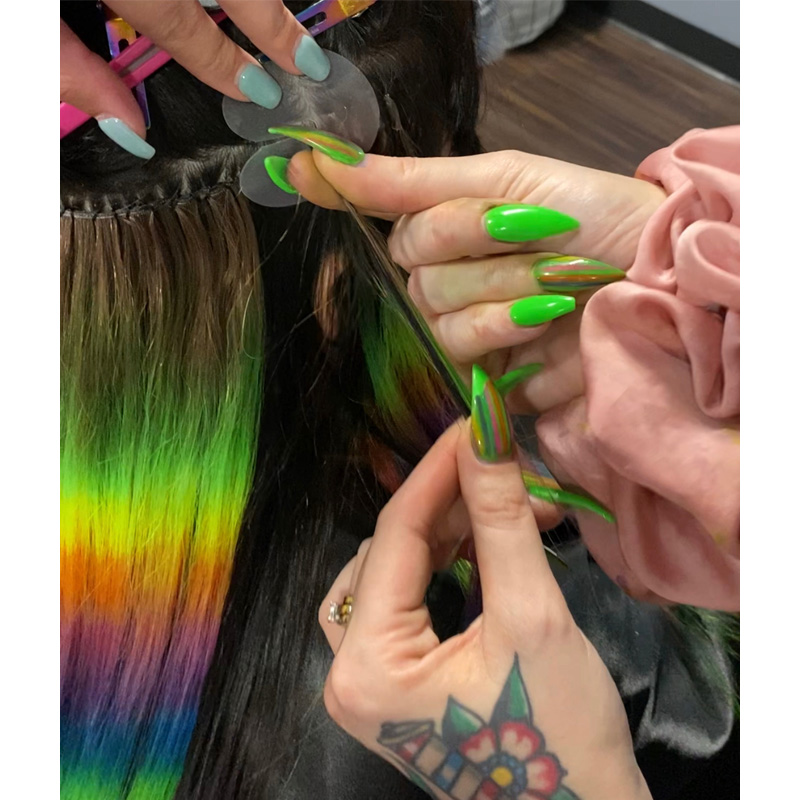 how to color k-tip and weft hair extensions toning avoid spots dreamcatchers hair extensions