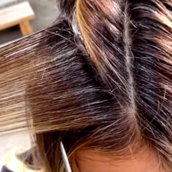 foilayage balayage and foil tips for covering gray and preventing spotty blonde color or foils slipping lo wheeler davis kenra professional
