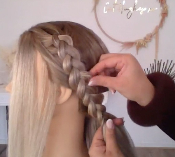 semi halo braid how to tutorial @cathughesxo moroccanoil styling bridal hair trends