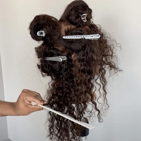 Mizani Aircut curly hair cutting