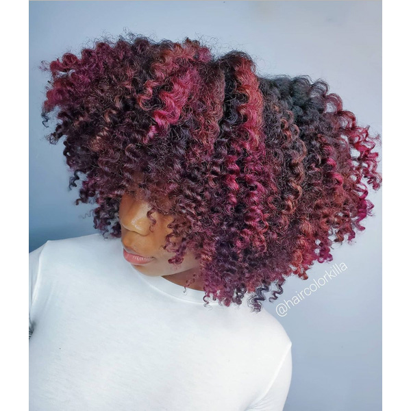 fall 2021 hair color trends wine red
