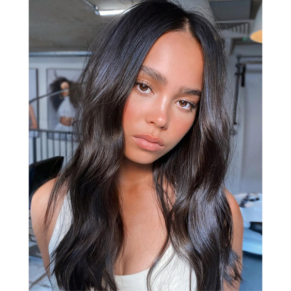 fall 2021 hair color trends rich dark brunette