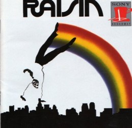 "The album cover for the original cast recording of ""Raisin,"" the musical version of Lorraine Hansberry's ""A Raisin in the Sun."""