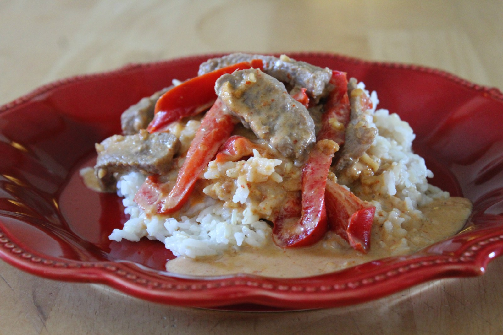 Thai panang curry with beef