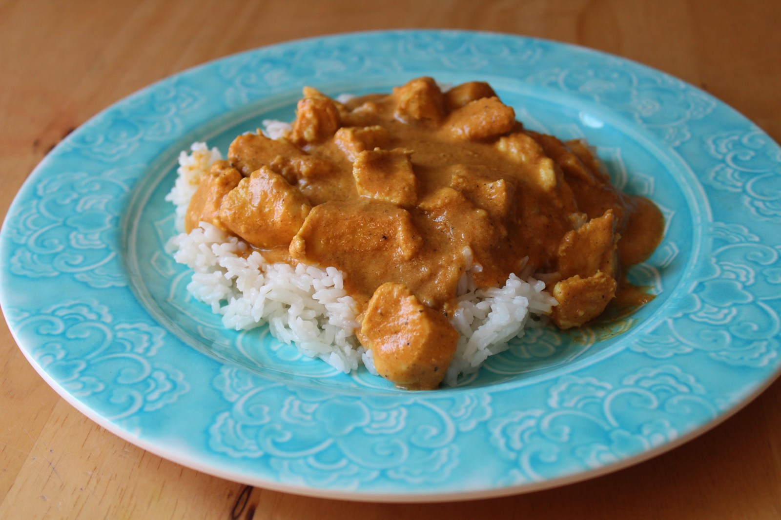 chicken almond curry (chicken korma)