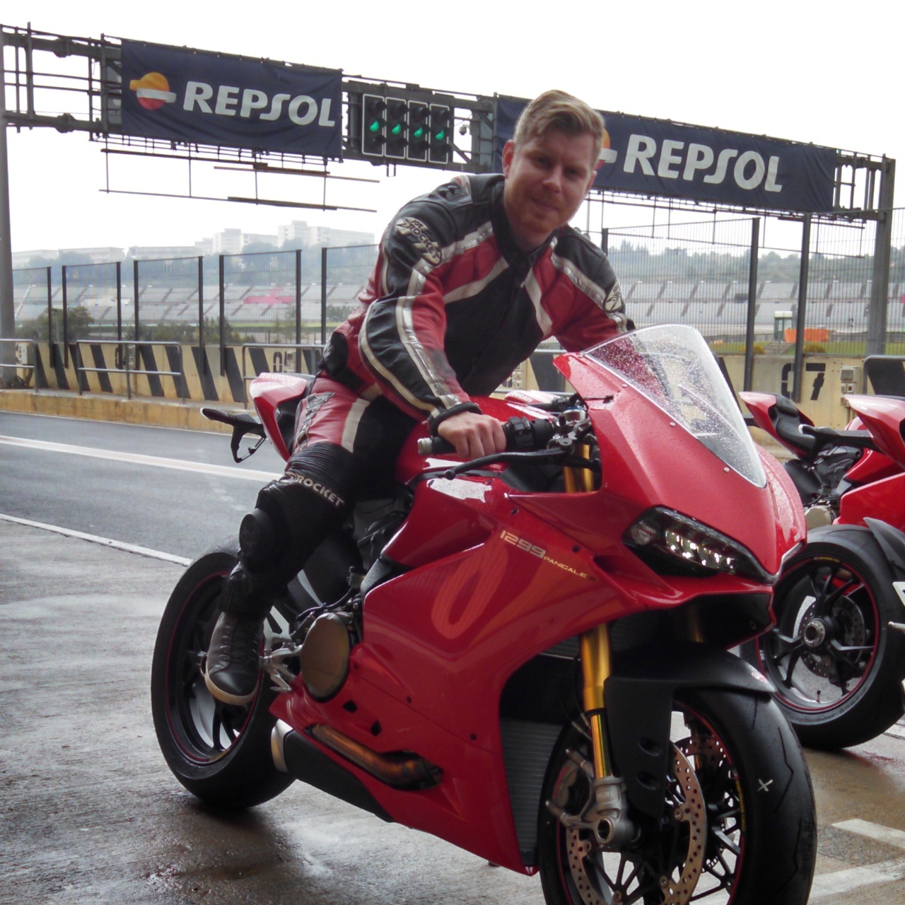 The Rain in Spain: Two Men, and Three New Ducatis
