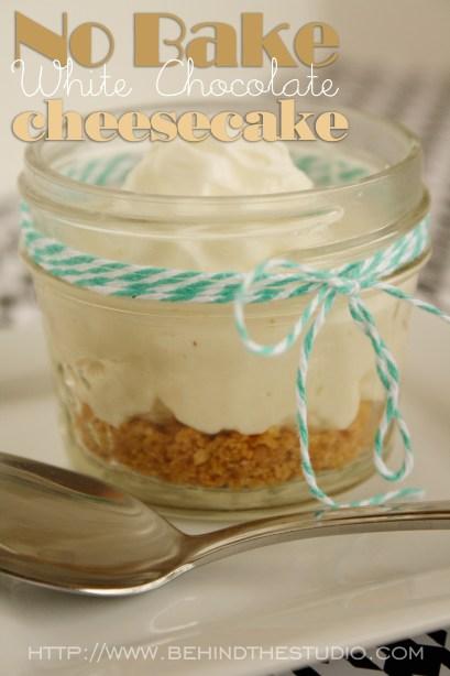 No Bake White Chocolate Cheesecake #JuneDairyMovies