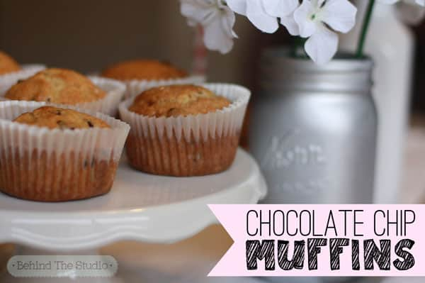 Chocolate Chip Muffins |http://www.behindthestudio.com|
