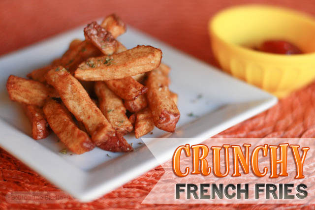 Crunchy French Fries |http://www.behindthestudio.com|