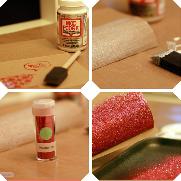 How to make a DIY glitter cake bunting - http://www.behindthestudio.com