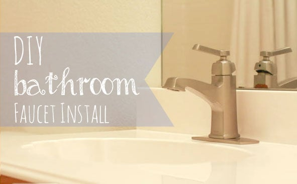 Our bathroom makeover with the new Moen Boardwalk sink faucet from ...