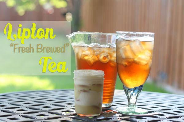 Lipton fresh brewed iced tea with banana pudding - #TEArifficPairs #cbias #ad