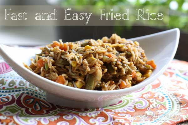 Quick and Easy fried rice with Success Rice #SuccessRice @Success_Rice #ad