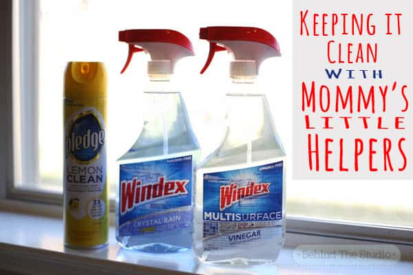 A 1o minute clean up with mommy's little helper -  #InstaClean #CollectiveBias #Shop