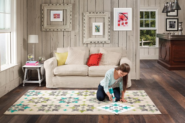 create your own patterned rug with vecco diy rug decor – behind