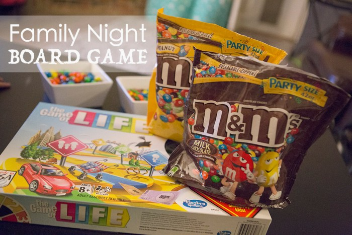 Family Game night with M&M's #GameNightIn #AD
