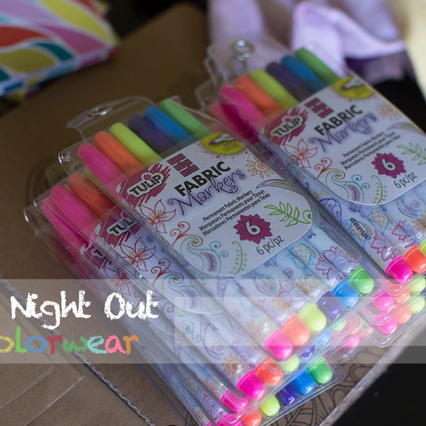 Mom's night out with #Colorwear t-shirts and fabric pens #AD #ic