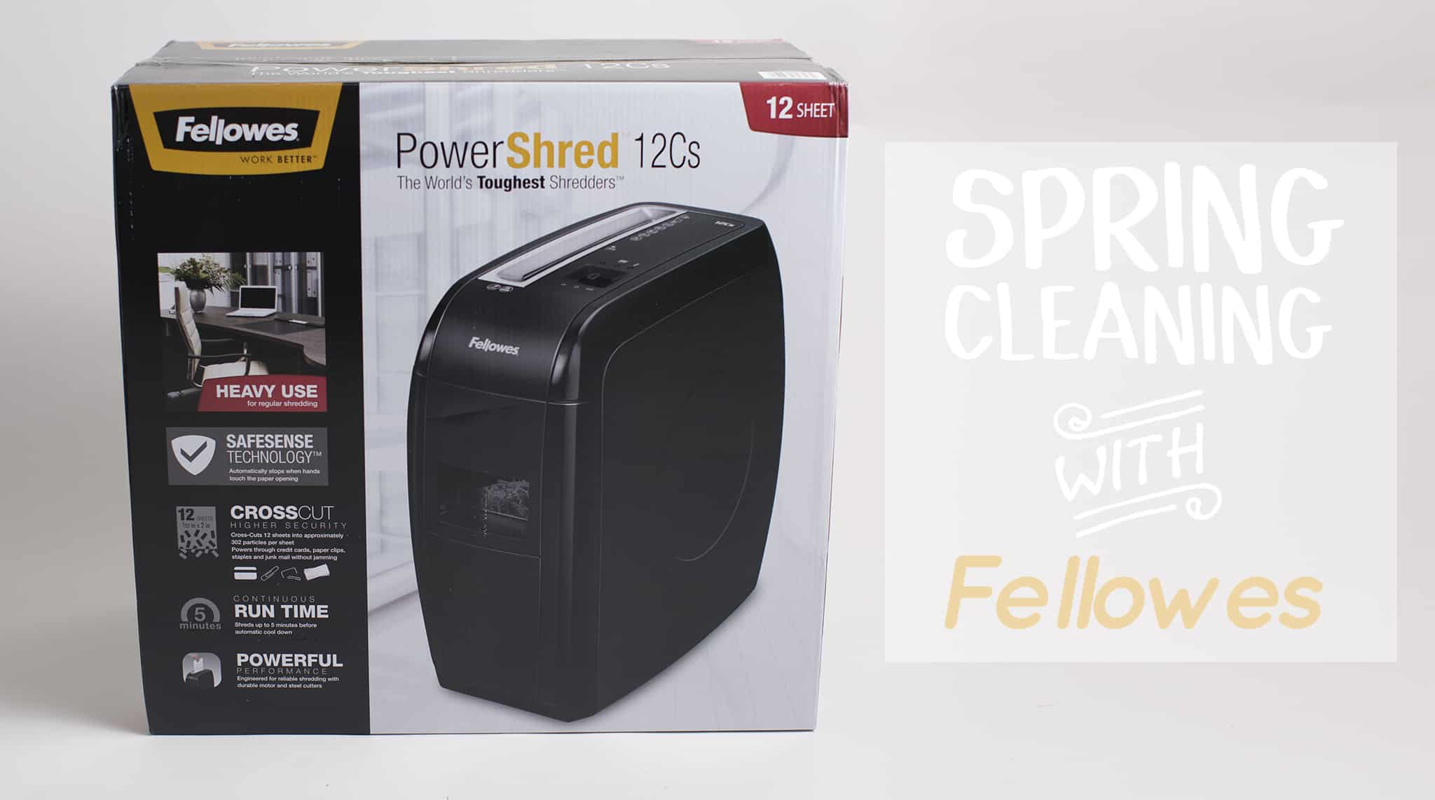 Spring cleaning with Fellowes PowerShredder - #WorkBetterWithFellowes #AD