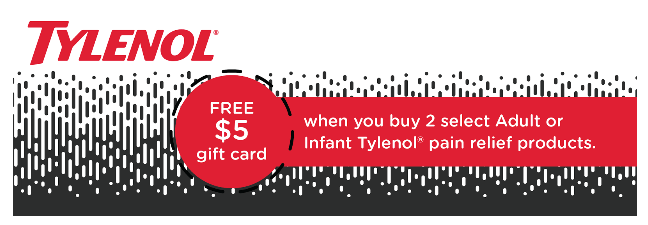 Get a $5 gift card from Target for buying Tylenol® products! #ForWhatMattersMost #ad