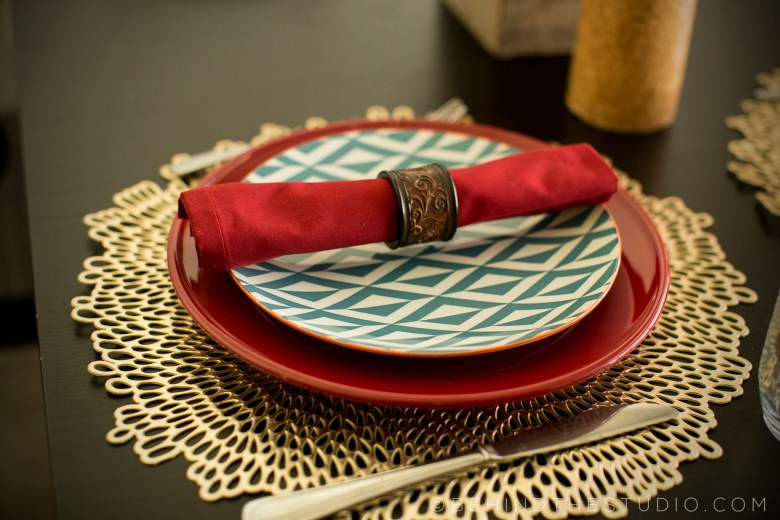 Fall table placesetting for under $50 at Walmart - #FallinForWalmart #Ad