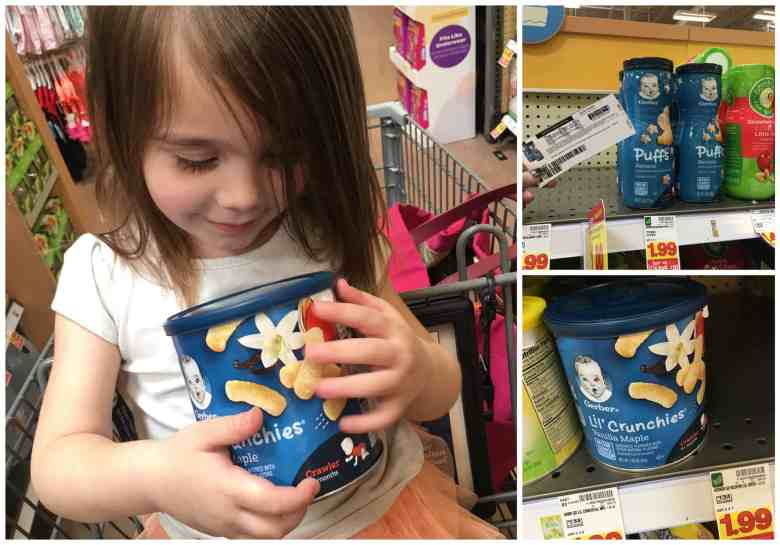 Learning to self feed with Gerber snacks for baby - #AnythingForBaby #AD