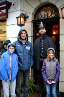 On Baker Street at the Sherlock Holmes Museum.