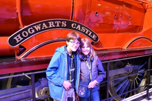About to board the Hogwart's Express