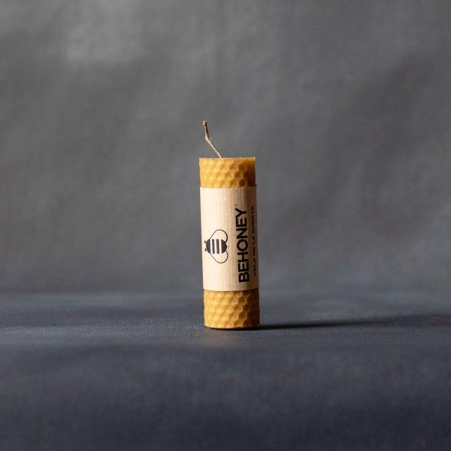 Vela de cera de abeja redonda 10cm x 3cm
