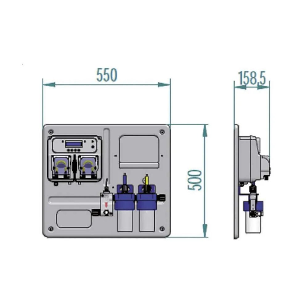 hight resolution of hydroline hpe twin ph orp