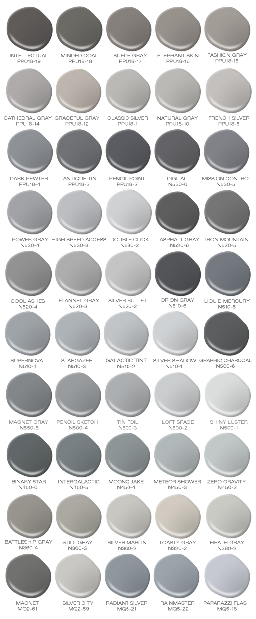 Dark Grey Paint : paint, BEHR's, Shades, Colorfully,
