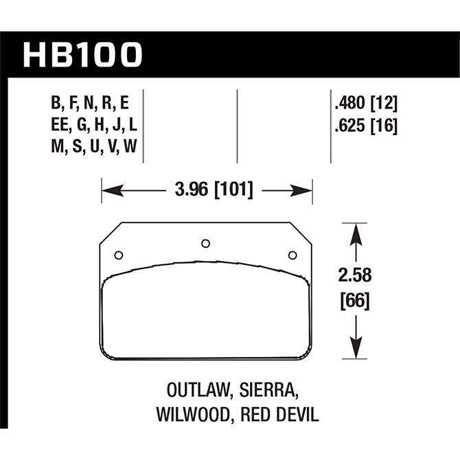 Hawk Brakes product HB100V.480 DTC-50 Compound Wilwood DL