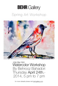 Spring Art Workshop by Behrooz Bahadori [FREE] @ Behr Gallery | Seattle | Washington | United States