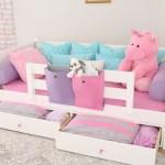 White Day Bed Dresser Nightstand Open Drawers Behr S Superstore
