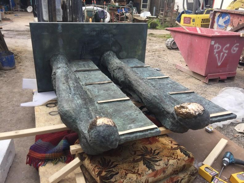 TWINS in opbouw bronsgieterij 1