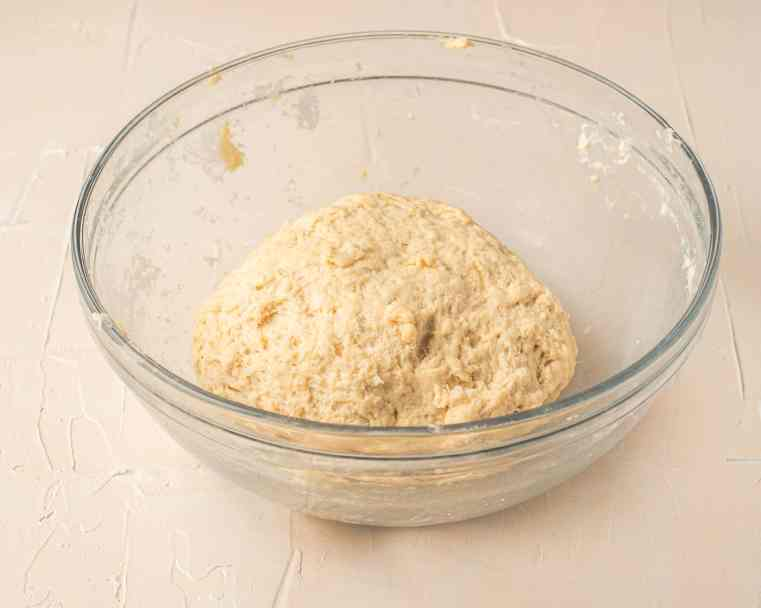 Dough after ingredients are kneaded.  Now it needs to rise.
