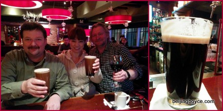 No Deadline Day Beijing Bar 2015 Crawl Happy Hour at The Den with Lisa and Neil