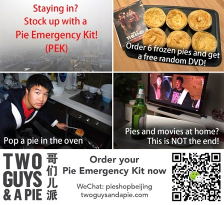 Two Guys and a Pie Emergency Kit