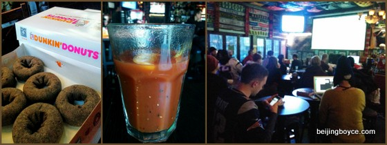 dunkin' donuts bloody mary paddy o'shea's nfl playoffs beijing china.jpg