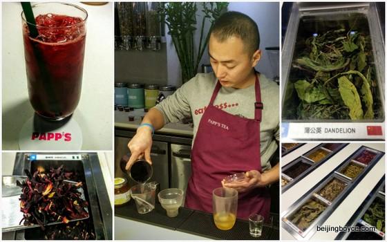 papp's tea hibiscus cocktail sanlitun soho beijing china