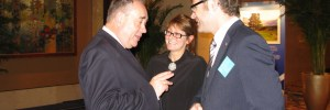 First Minister Alex Salmond with Hazel Old and Tom Ferguson