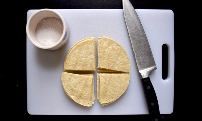 How to make easy homemade corn tortilla chips with just three ingredients!