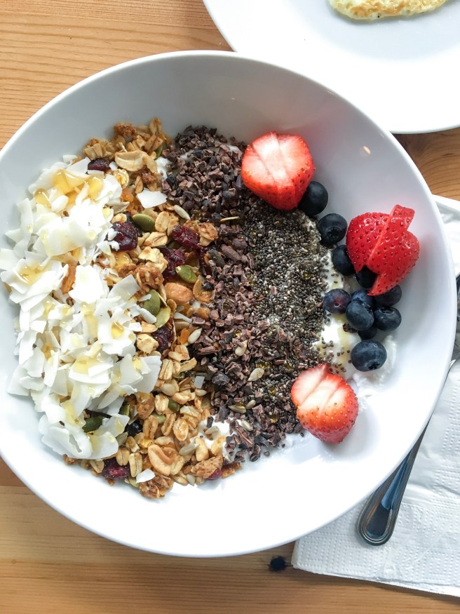 The yogurt and granola bowl that started it all. From The Society Hotel Cafe in Portland, Oregon.
