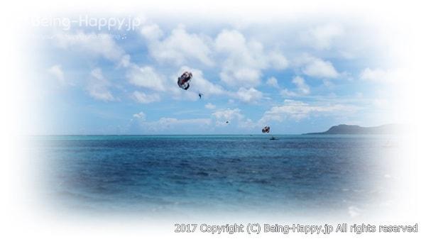 真っ青な海の思い出写真
